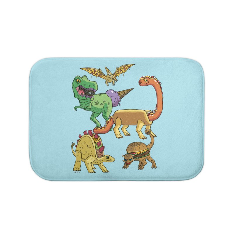 Jurassic Junk Food Home Bath Mat by brianmcl's Artist Shop