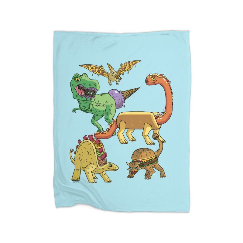 Jurassic Junk Food Home Fleece Blanket Blanket by brianmcl's Artist Shop