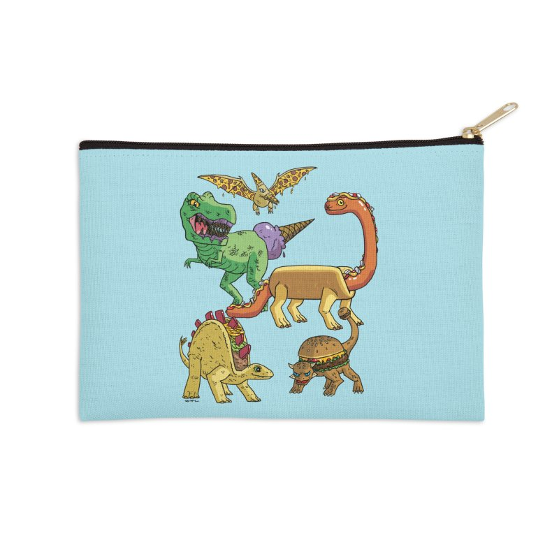 Jurassic Junk Food Accessories Zip Pouch by brianmcl's Artist Shop