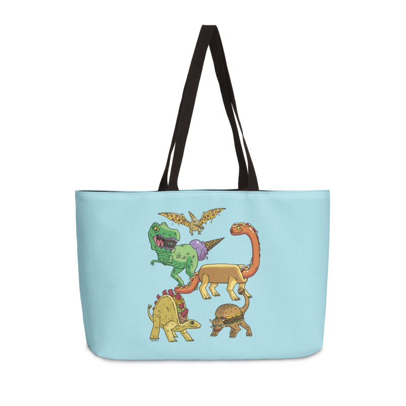 Jurassic Junk Food Accessories Weekender Bag Bag by brianmcl's Artist Shop