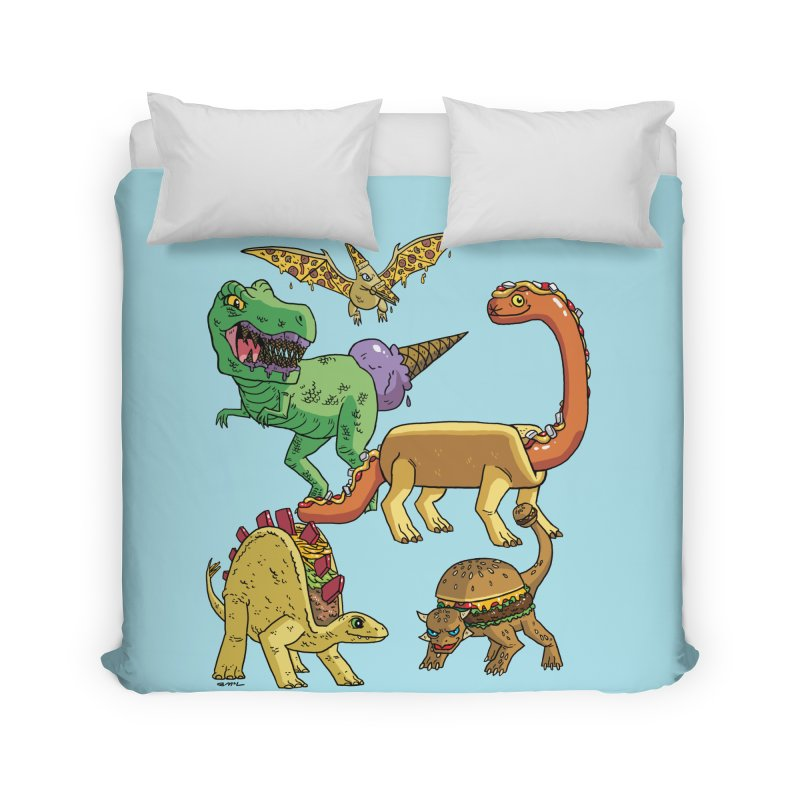 Jurassic Junk Food Home Duvet by brianmcl's Artist Shop