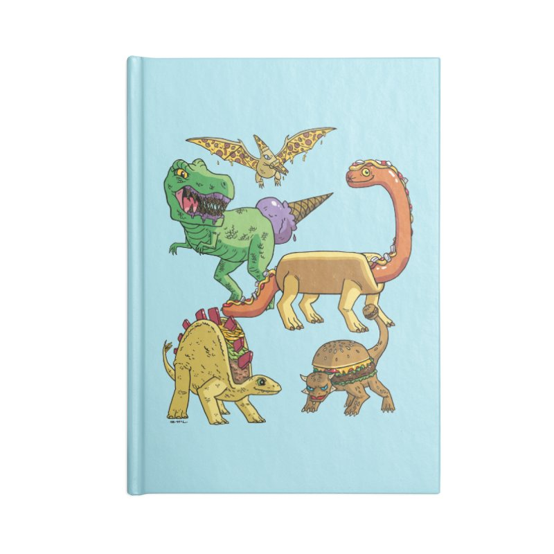 Jurassic Junk Food Accessories Lined Journal Notebook by brianmcl's Artist Shop