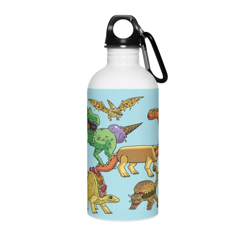 Jurassic Junk Food Accessories Water Bottle by brianmcl's Artist Shop