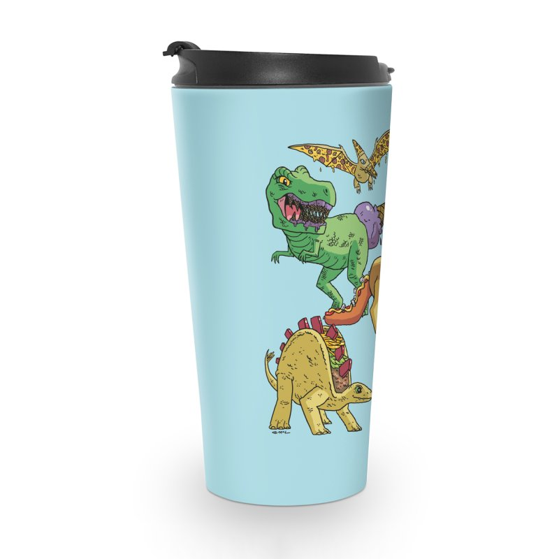 Jurassic Junk Food Accessories Travel Mug by brianmcl's Artist Shop