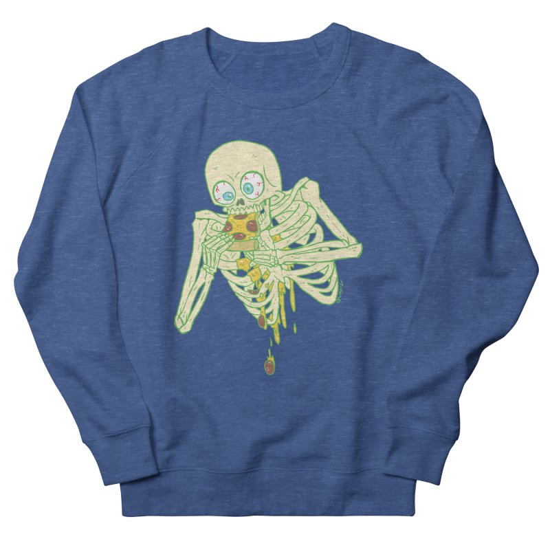 I'm So Pizza - Green Men's French Terry Sweatshirt by brianmcl's Artist Shop