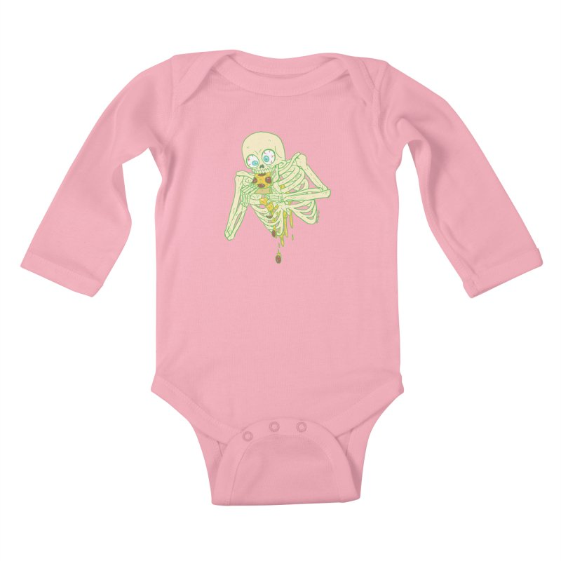 I'm So Pizza - Green Kids Baby Longsleeve Bodysuit by brianmcl's Artist Shop