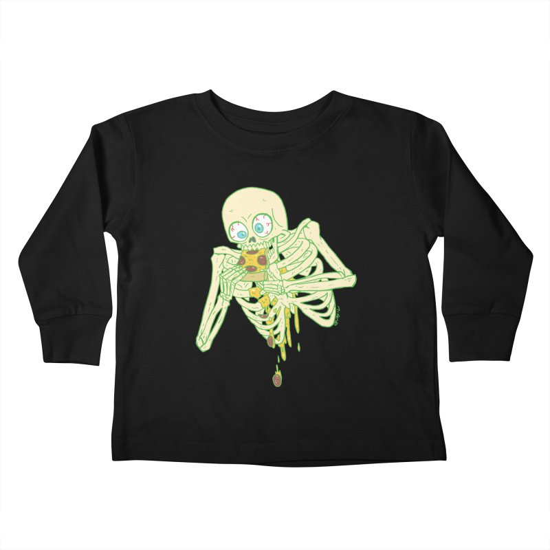 I'm So Pizza - Green Kids Toddler Longsleeve T-Shirt by brianmcl's Artist Shop