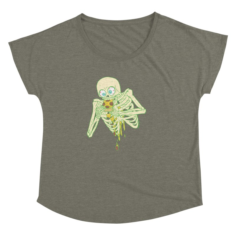 I'm So Pizza - Green Women's Dolman Scoop Neck by brianmcl's Artist Shop