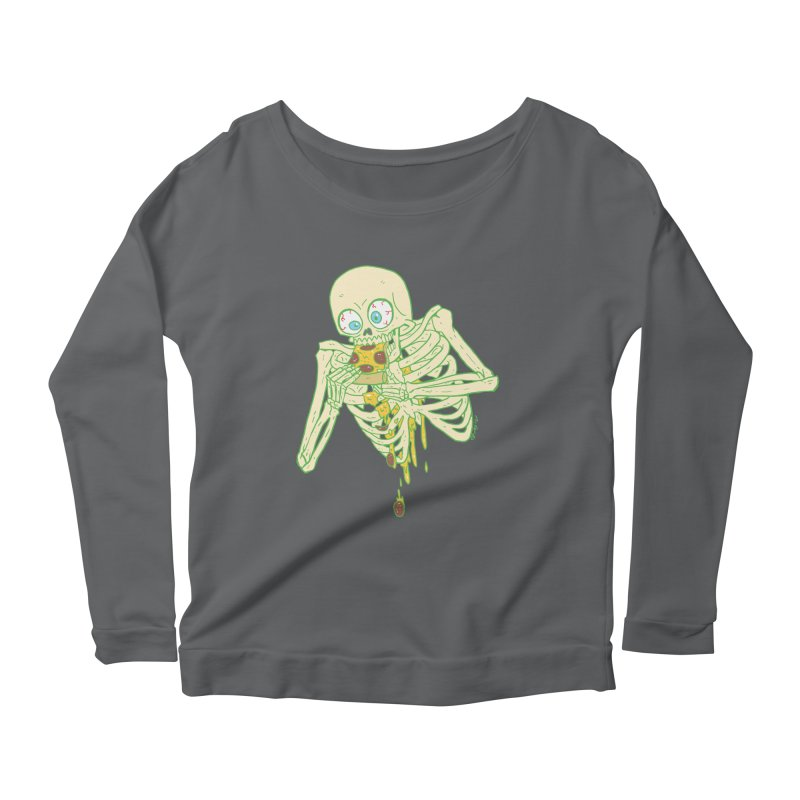 I'm So Pizza - Green Women's Scoop Neck Longsleeve T-Shirt by brianmcl's Artist Shop