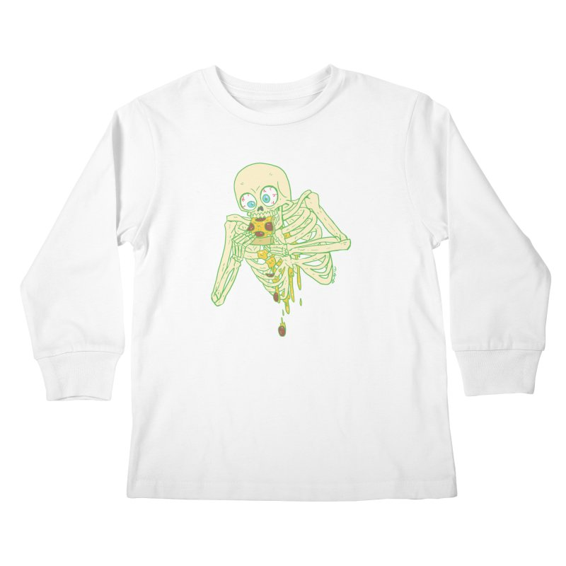 I'm So Pizza - Green Kids Longsleeve T-Shirt by brianmcl's Artist Shop