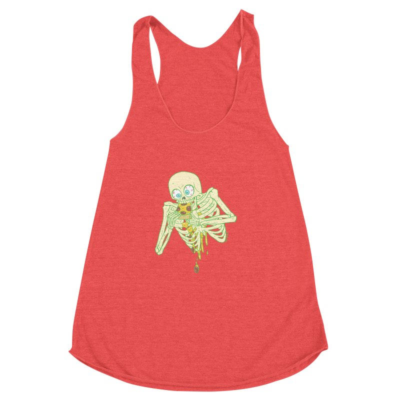 I'm So Pizza - Green Women's Racerback Triblend Tank by brianmcl's Artist Shop