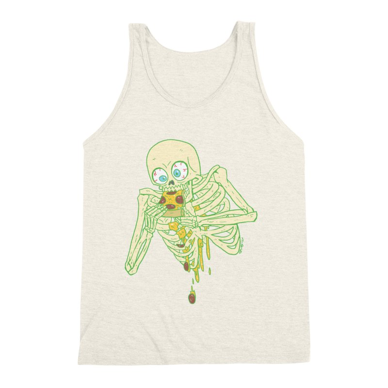 I'm So Pizza - Green Men's Triblend Tank by brianmcl's Artist Shop