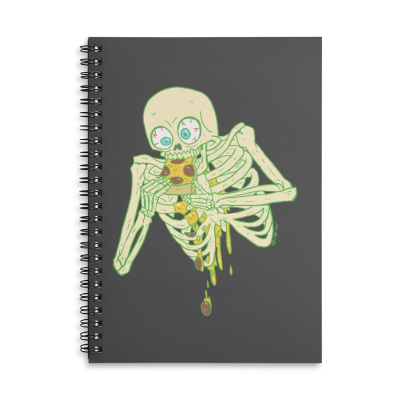 I'm So Pizza - Green Accessories Lined Spiral Notebook by brianmcl's Artist Shop