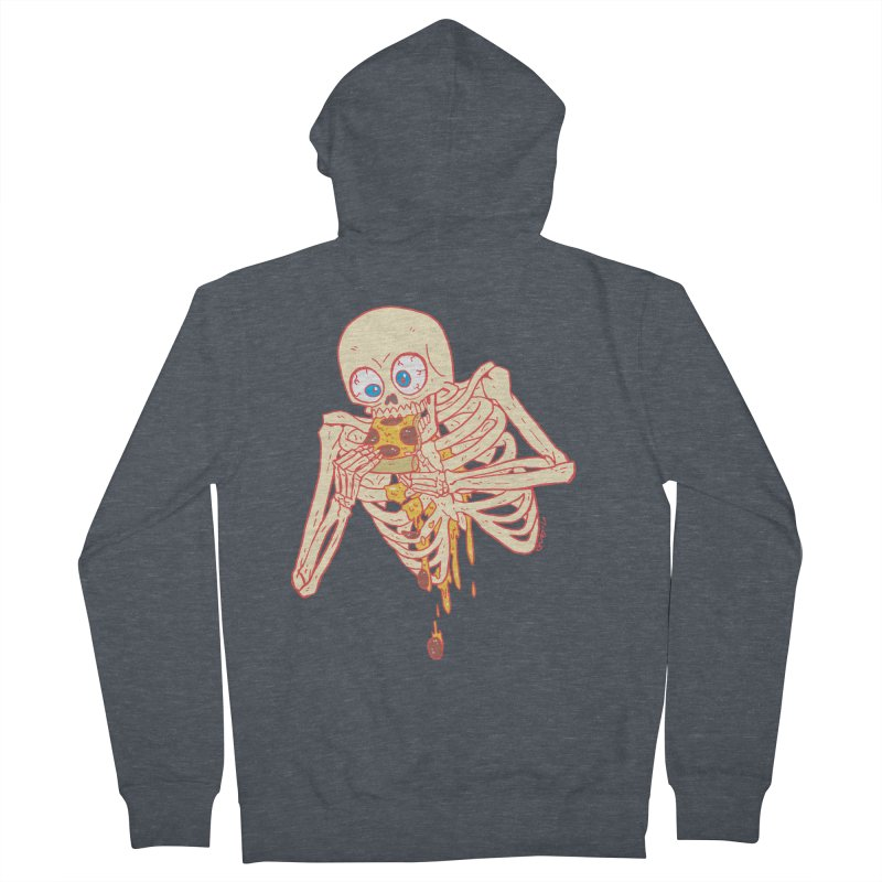 I'm So Pizza - Red Men's French Terry Zip-Up Hoody by brianmcl's Artist Shop