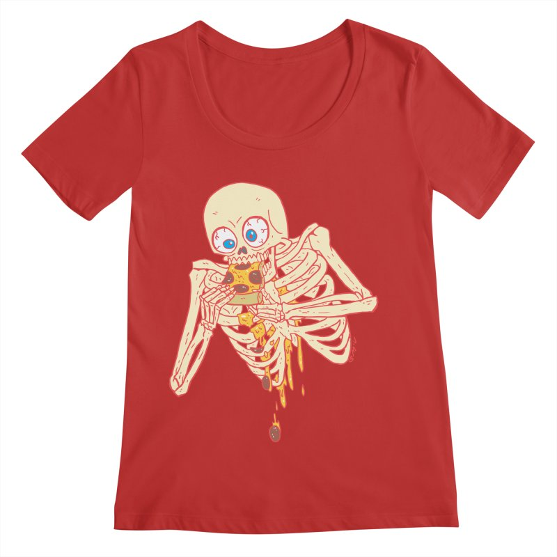 I'm So Pizza - Red Women's Regular Scoop Neck by brianmcl's Artist Shop