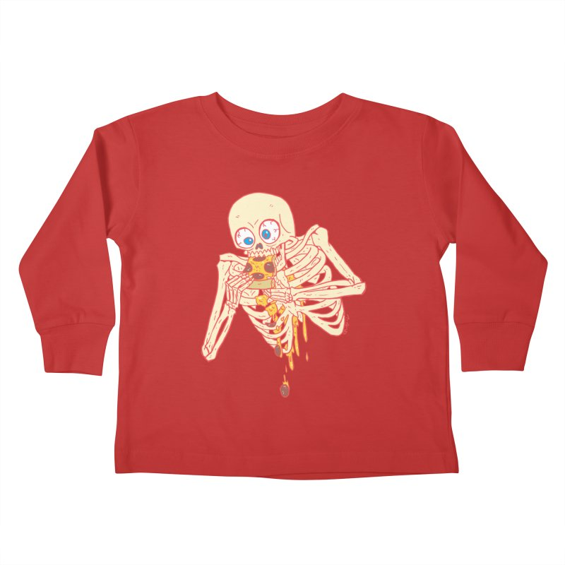 I'm So Pizza - Red Kids Toddler Longsleeve T-Shirt by brianmcl's Artist Shop