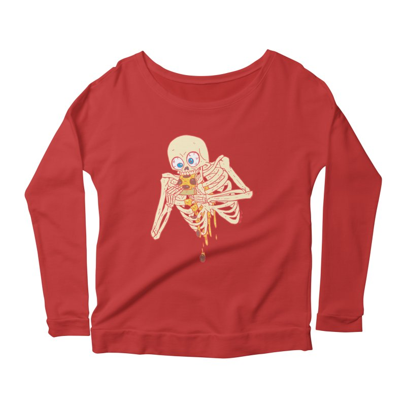 I'm So Pizza - Red Women's Scoop Neck Longsleeve T-Shirt by brianmcl's Artist Shop