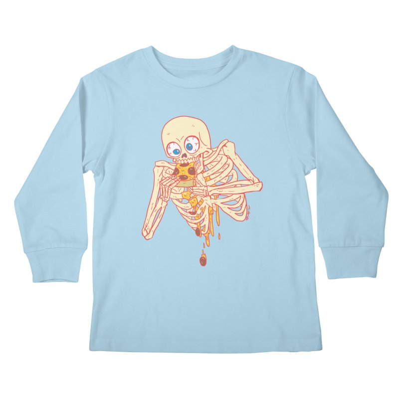 I'm So Pizza - Red Kids Longsleeve T-Shirt by brianmcl's Artist Shop