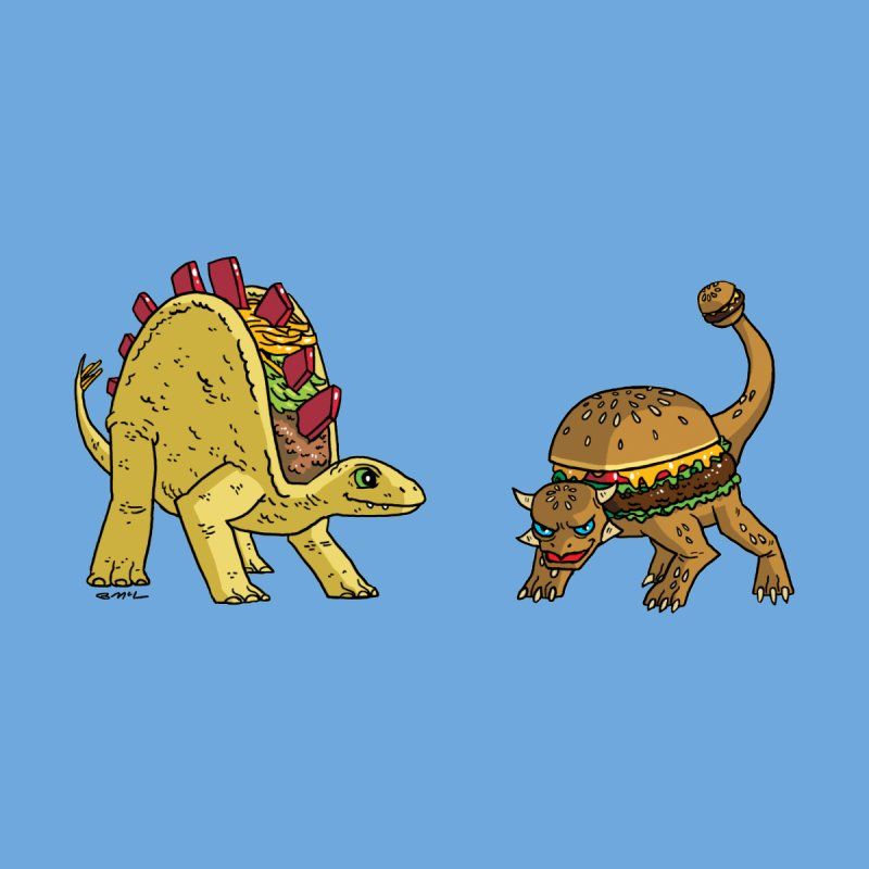 Taco and Burgersaurus Home Fine Art Print by brianmcl's Artist Shop