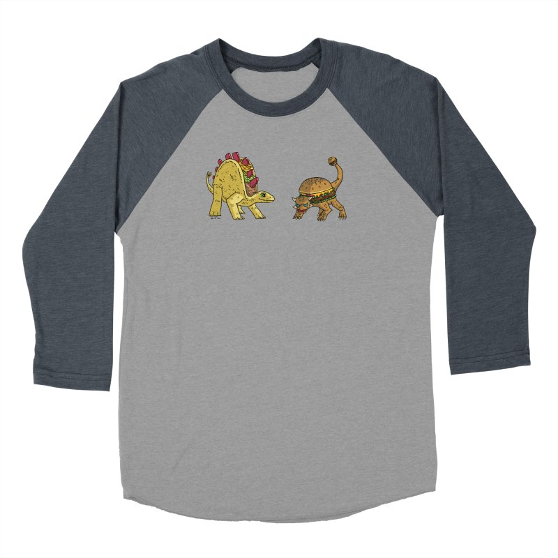 Taco and Burgersaurus Women's Baseball Triblend Longsleeve T-Shirt by brianmcl's Artist Shop