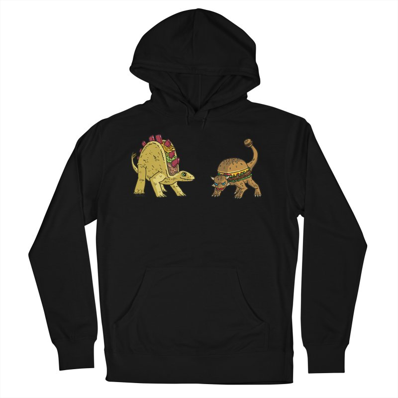 Taco and Burgersaurus Women's French Terry Pullover Hoody by brianmcl's Artist Shop
