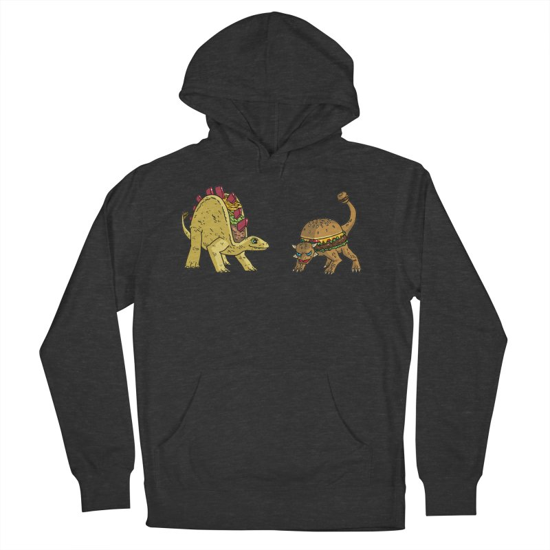 Taco and Burgersaurus Men's French Terry Pullover Hoody by brianmcl's Artist Shop