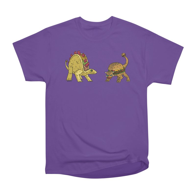 Taco and Burgersaurus Women's Heavyweight Unisex T-Shirt by brianmcl's Artist Shop