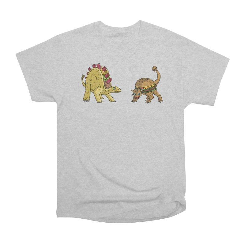 Taco and Burgersaurus Women's Heavyweight Unisex T-Shirt by brianmcl's Artist Shop