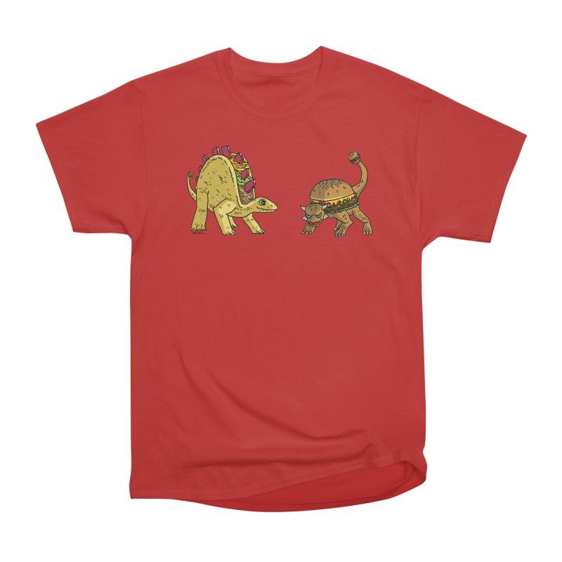 Taco and Burgersaurus Men's Heavyweight T-Shirt by brianmcl's Artist Shop