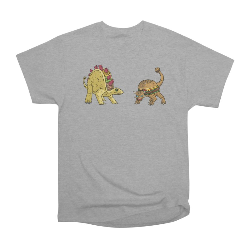 Taco and Burgersaurus Men's Heavyweight T-Shirt by brianmcl's Artist Shop