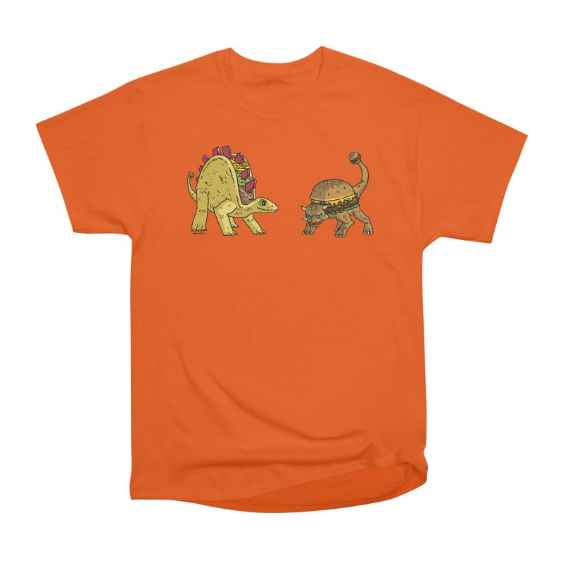 Taco and Burgersaurus Women's T-Shirt by brianmcl's Artist Shop
