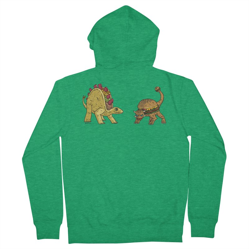 Taco and Burgersaurus Women's Zip-Up Hoody by brianmcl's Artist Shop