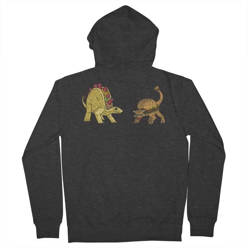 Taco and Burgersaurus Men's French Terry Zip-Up Hoody by brianmcl's Artist Shop