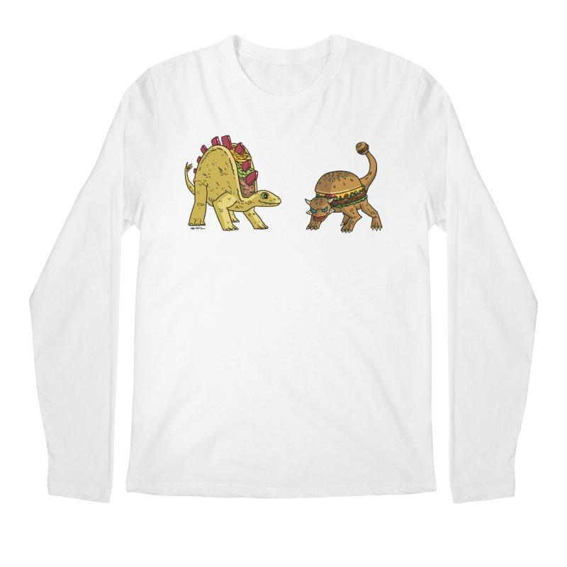 Taco and Burgersaurus Men's Regular Longsleeve T-Shirt by brianmcl's Artist Shop