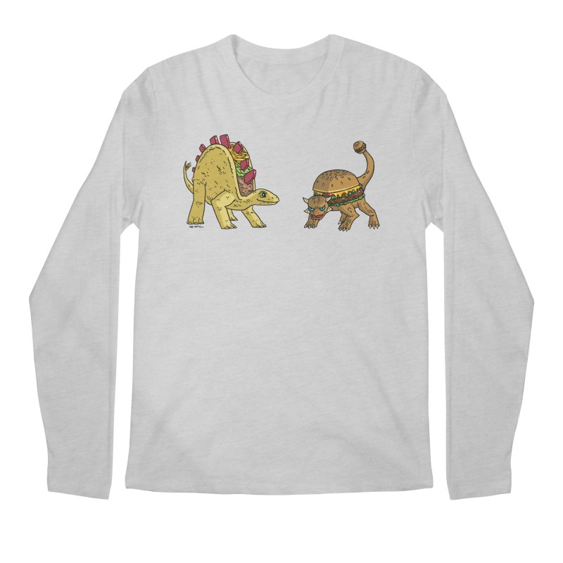 Taco and Burgersaurus Men's Regular Longsleeve T-Shirt by brianmcl's Artist Shop