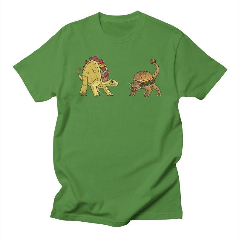 Taco and Burgersaurus Men's Regular T-Shirt by brianmcl's Artist Shop