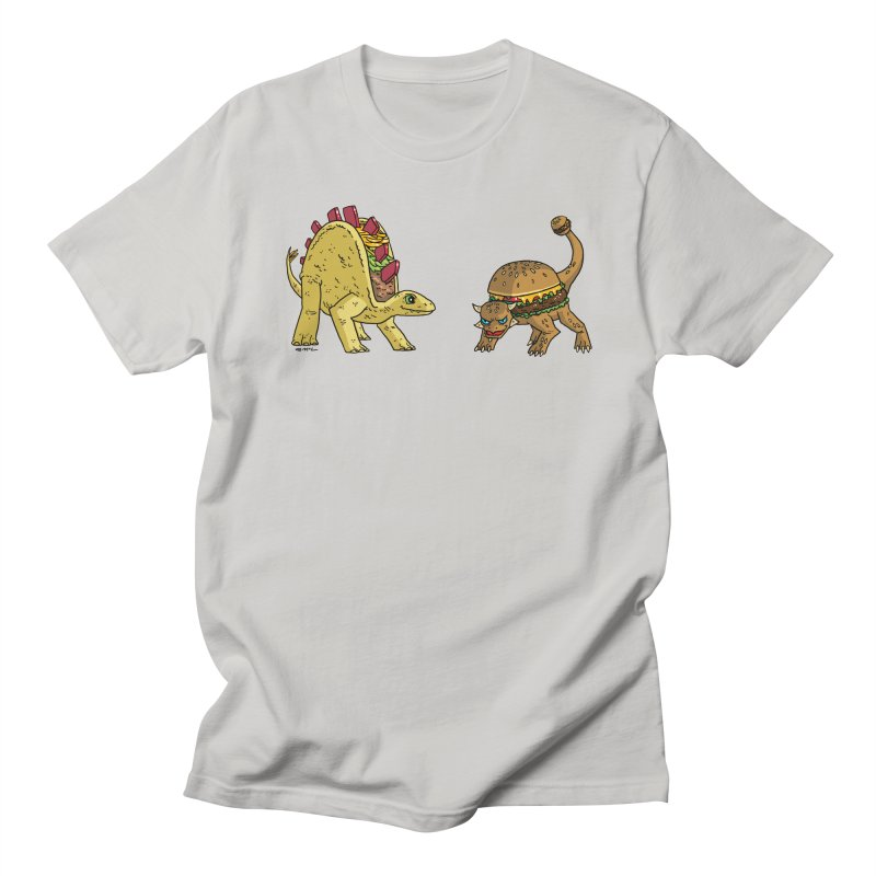 Taco and Burgersaurus Men's Regular T-Shirt by brianmcl's Artist Shop