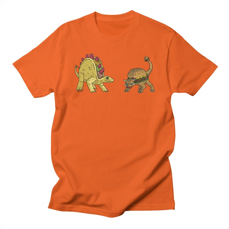 Taco and Burgersaurus Women's Regular Unisex T-Shirt by brianmcl's Artist Shop