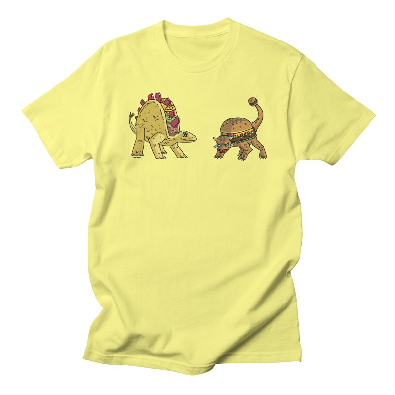 Taco and Burgersaurus Women's Regular Unisex T-Shirt by brianmcl's Artist Shop