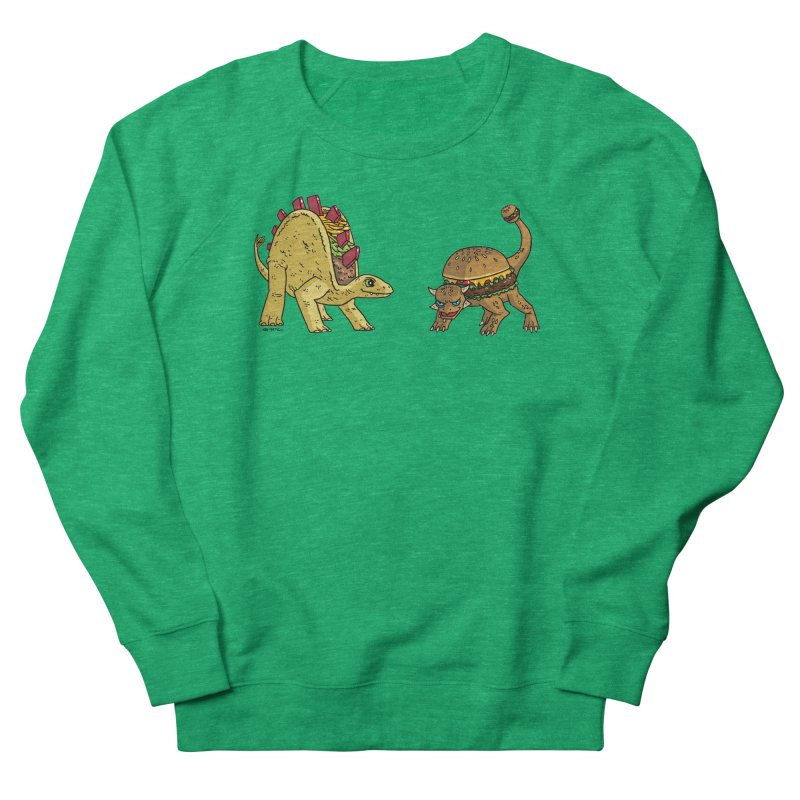Taco and Burgersaurus Women's Sweatshirt by brianmcl's Artist Shop