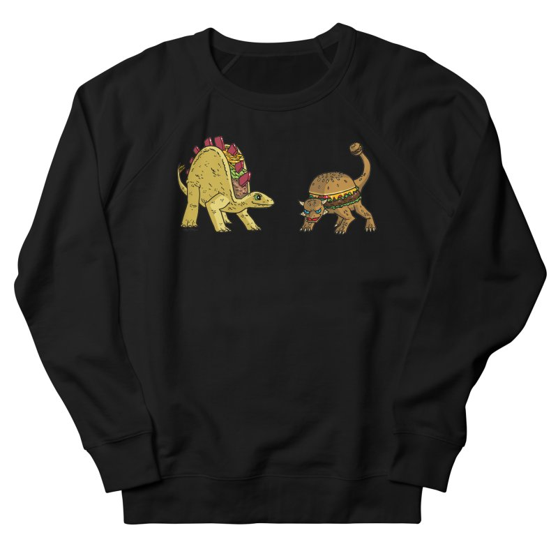 Taco and Burgersaurus Women's French Terry Sweatshirt by brianmcl's Artist Shop