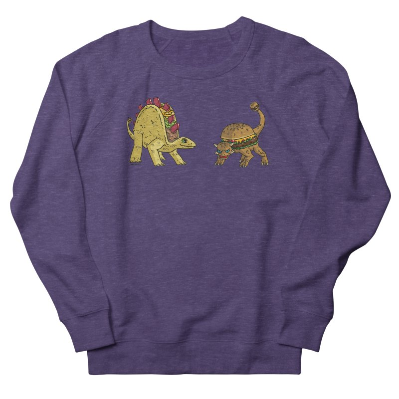 Taco and Burgersaurus Men's French Terry Sweatshirt by brianmcl's Artist Shop