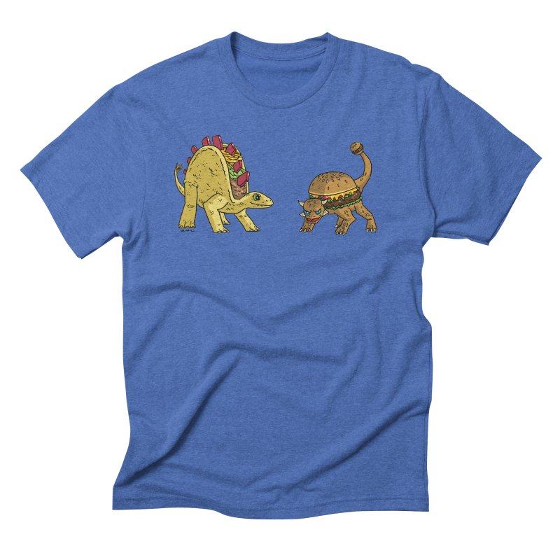 Taco and Burgersaurus Men's Triblend T-Shirt by brianmcl's Artist Shop