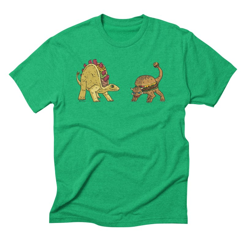 Taco and Burgersaurus Men's Triblend T-Shirt by brianmcl's Artist Shop