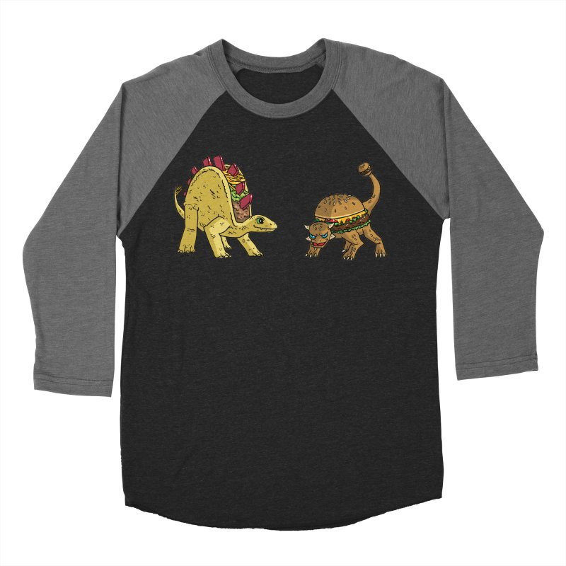 Taco and Burgersaurus Men's Baseball Triblend Longsleeve T-Shirt by brianmcl's Artist Shop