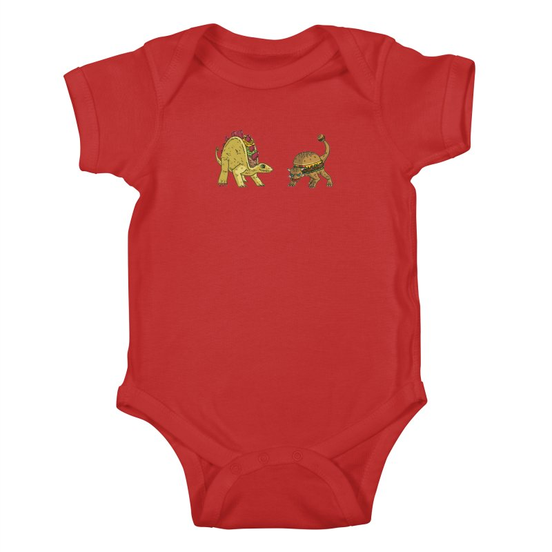Taco and Burgersaurus Kids Baby Bodysuit by brianmcl's Artist Shop