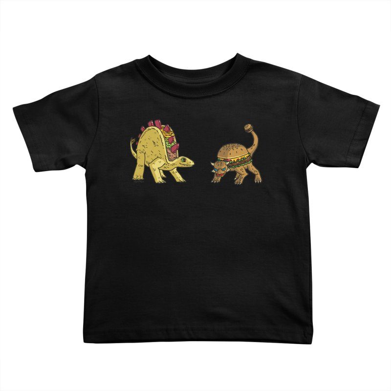 Taco and Burgersaurus Kids Toddler T-Shirt by brianmcl's Artist Shop