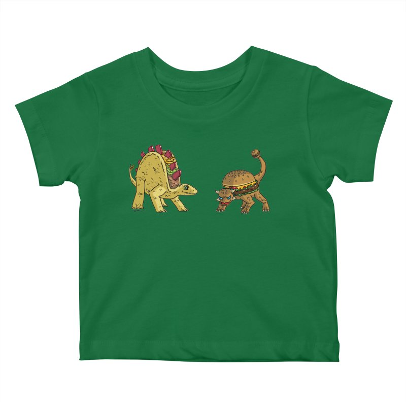 Taco and Burgersaurus Kids Baby T-Shirt by brianmcl's Artist Shop