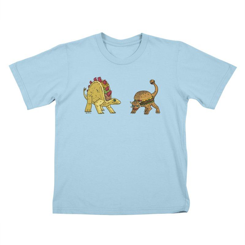 Taco and Burgersaurus Kids T-Shirt by brianmcl's Artist Shop