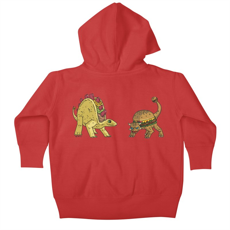 Taco and Burgersaurus Kids Baby Zip-Up Hoody by brianmcl's Artist Shop